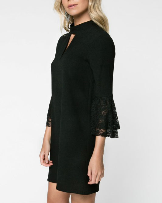 LAURA BLACK LACE DRESS