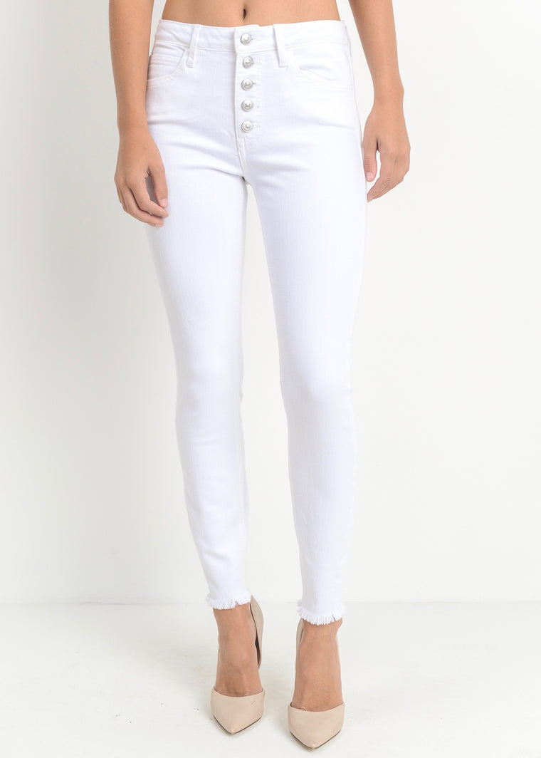 CAROLINE WHITE BUTTON UP JEANS