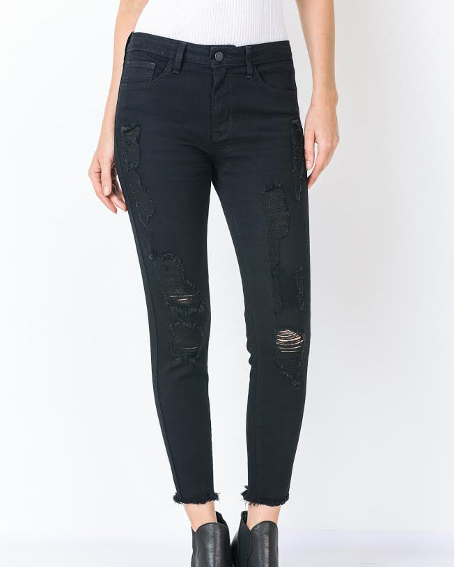 DESTROYED CROP DENIM