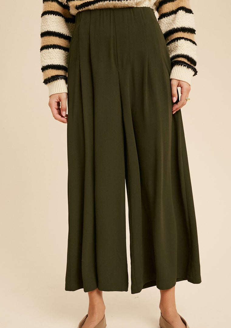 BLU WIDE LEG CROPPED PANTS