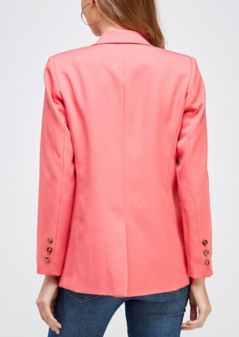 SOFIA SINGLE BUTTON BLAZER