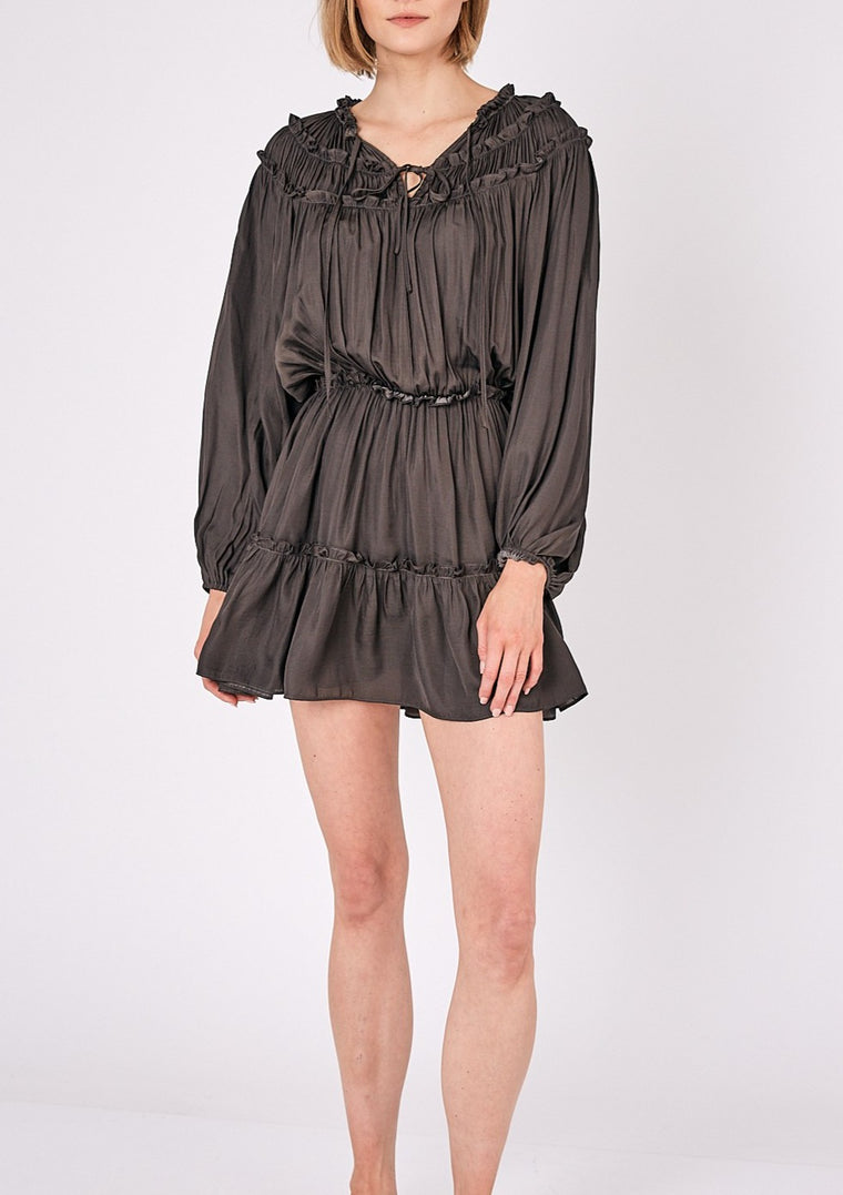 SYDNEY RUFFLE DETAIL DRESS