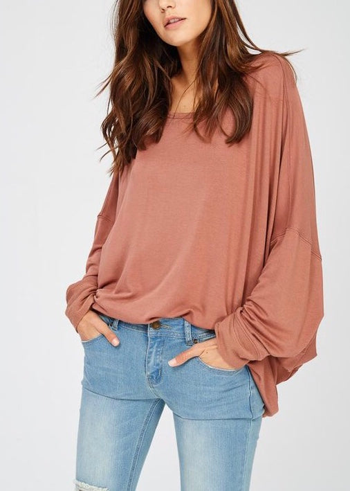 REVERSIBLE BATWING SLEEVE TOP