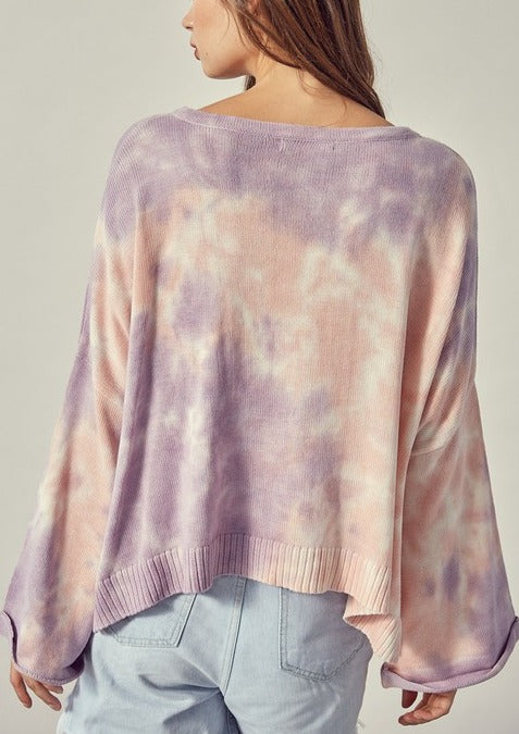 DONNIE TIE-DYE KNIT SWEATER