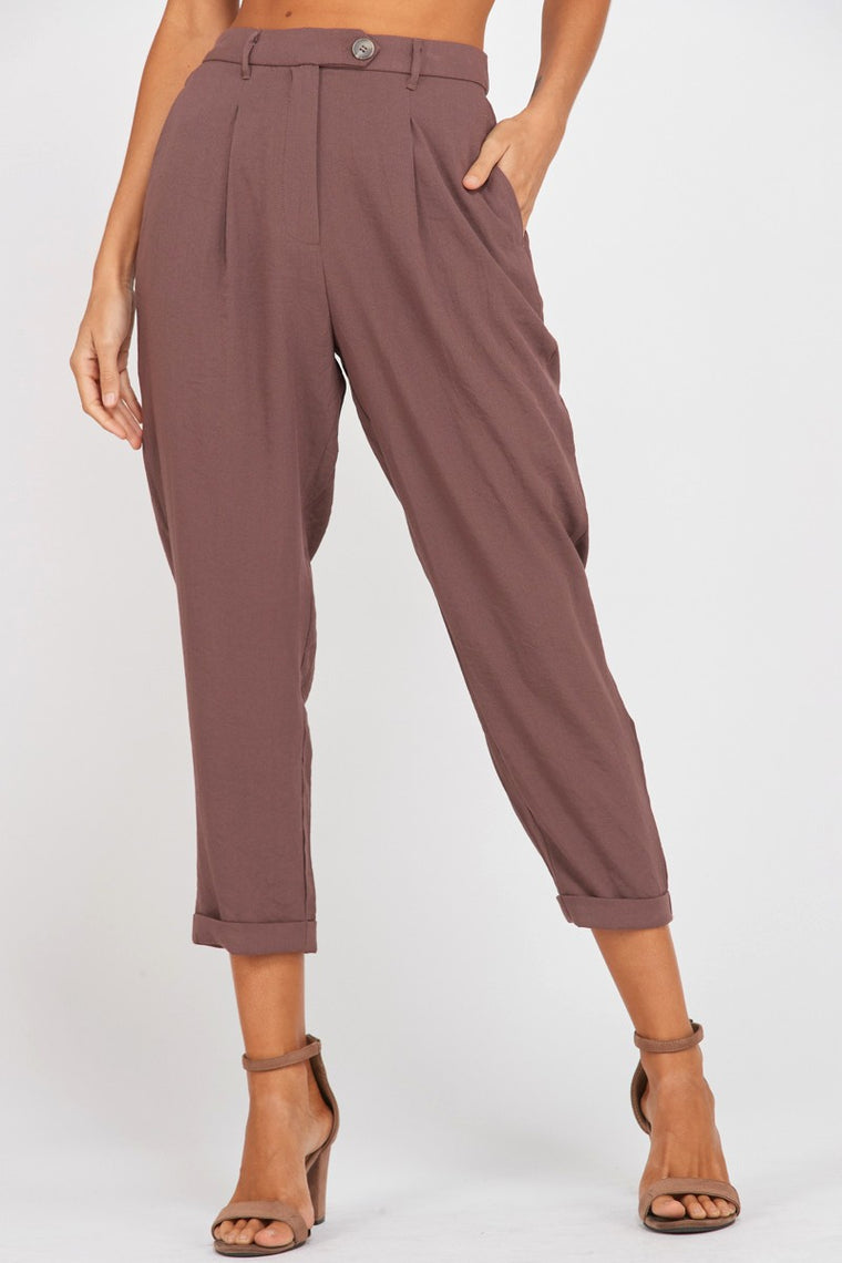 KRISTA TAILORED CREPE PANTS