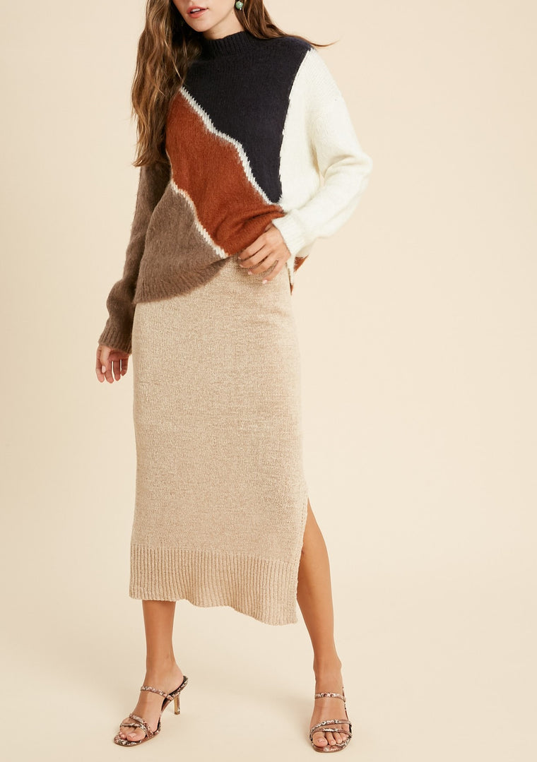 SUSIE COLORBLOCK SWEATER