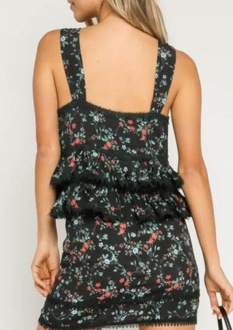 tiered floral tank