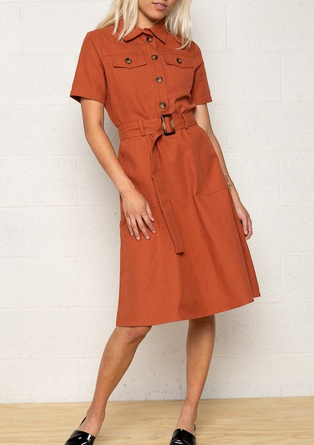 ISABELLA BUTTON UP DRESS