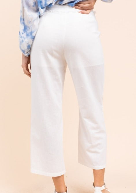 frayed detail trousers