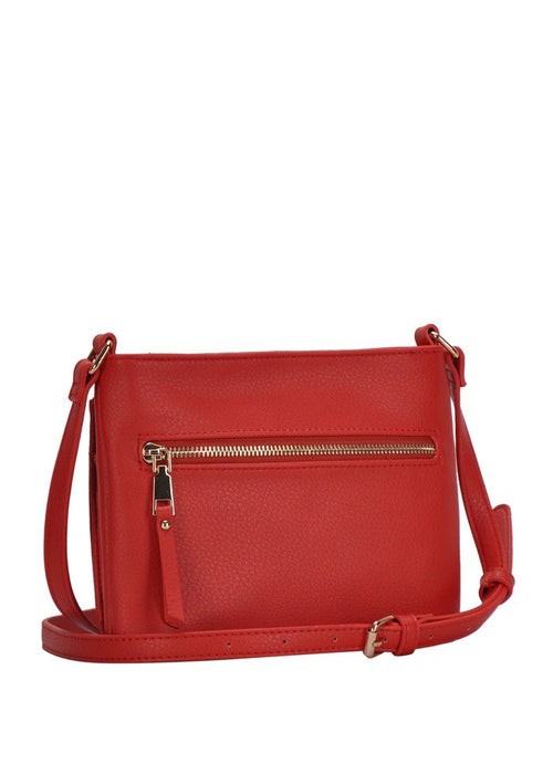 adjustable cross body bag with out side zipper
