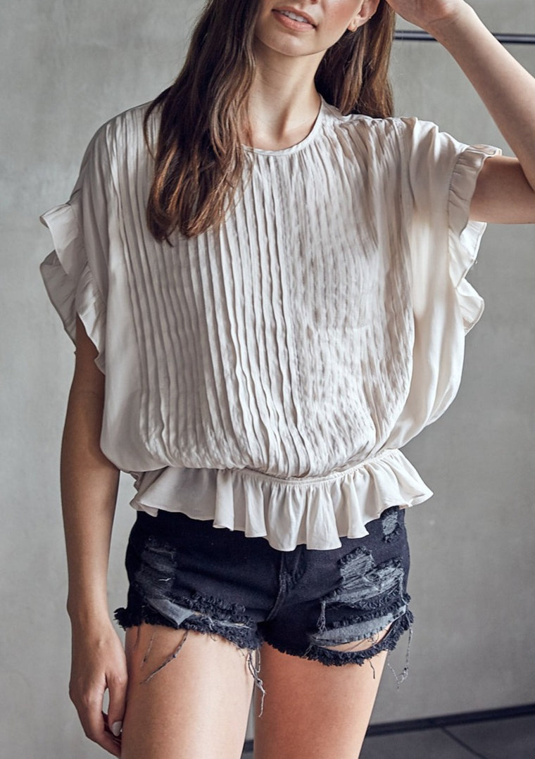PERI PLEATED BLOUSE