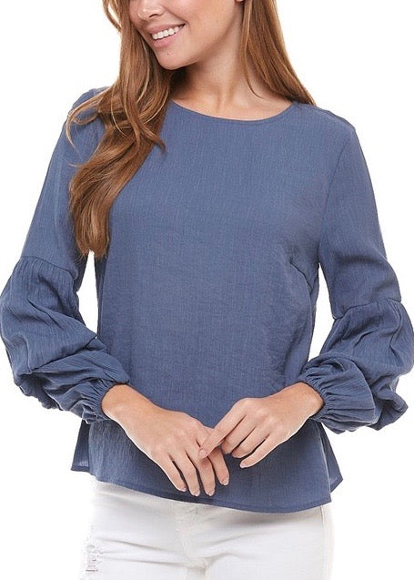 OLIVIA BALLOON SLEEVE TOP