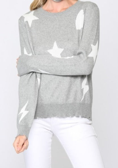 CHRISTINA DISTRESSED SWEATER
