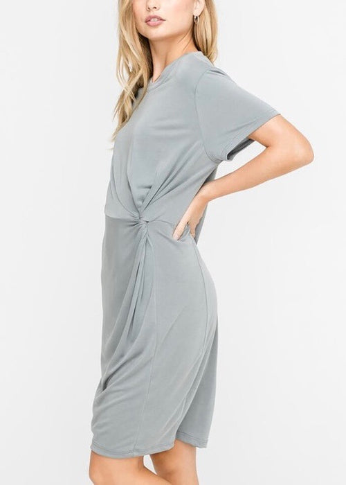 TWISTED ACCENT CASUAL DRESS