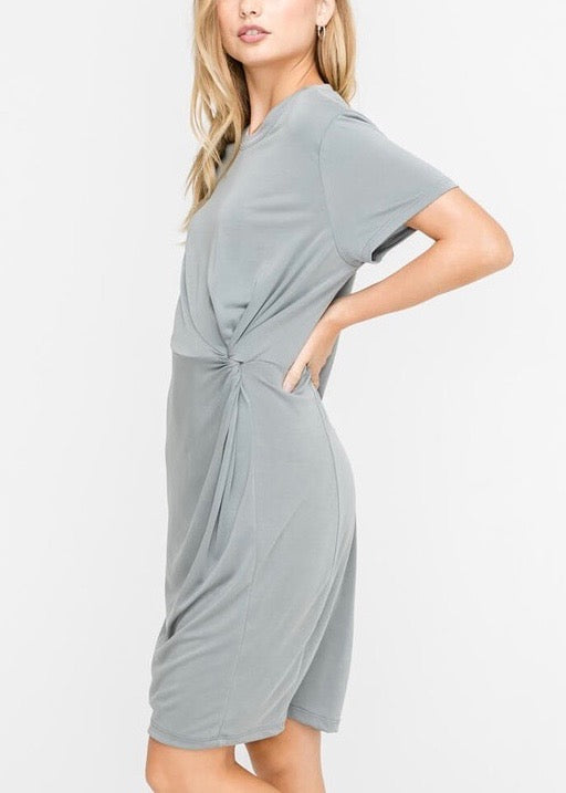 GREY COMFY RELAXED DRESS
