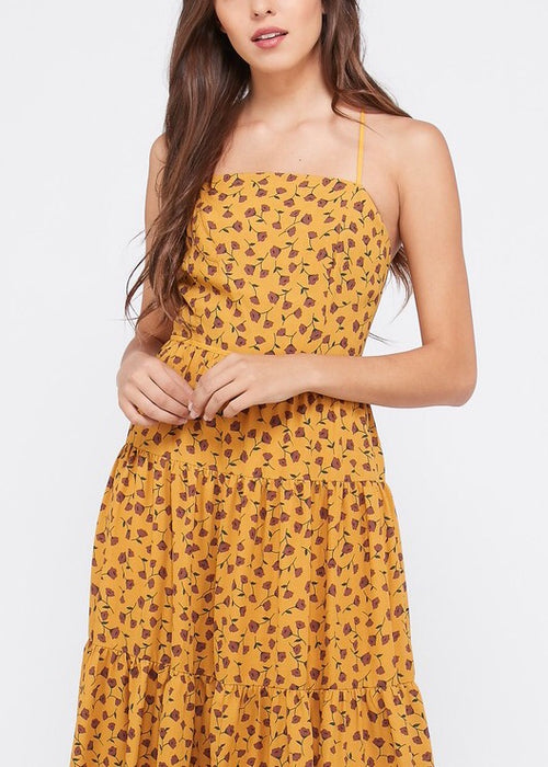 DAISY FLORAL BOHO MIDI DRESS