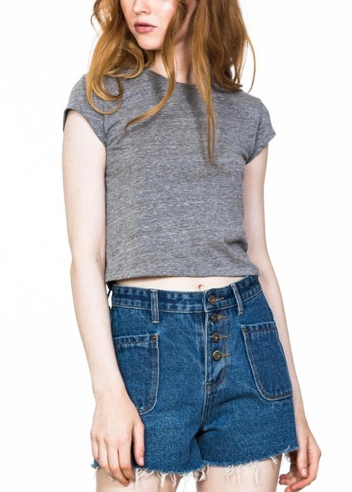 FESTIVAL FRAYED DENIM SHORTS