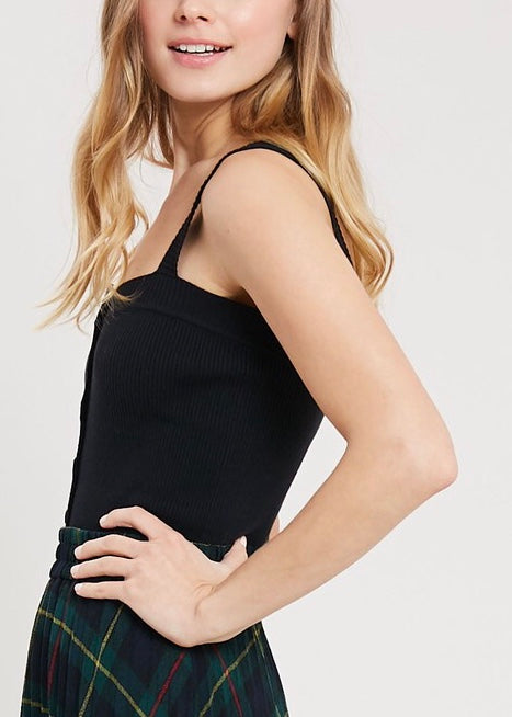 RACHEL KNIT BUTTON DOWN TANK