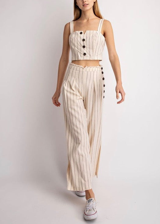striped 2 piece set