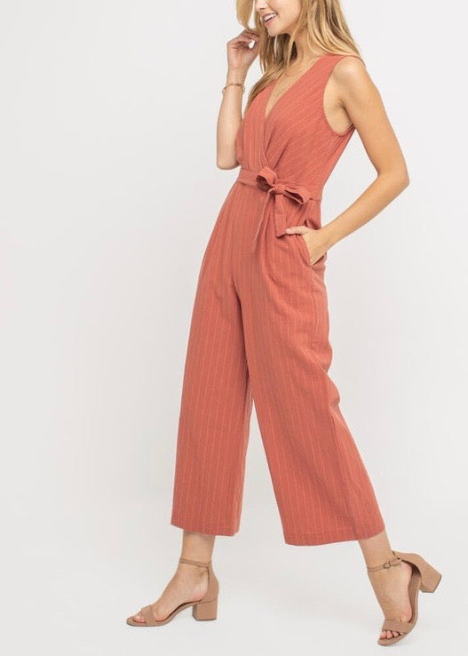 CATHERINE SIDE TIE JUMPSUIT