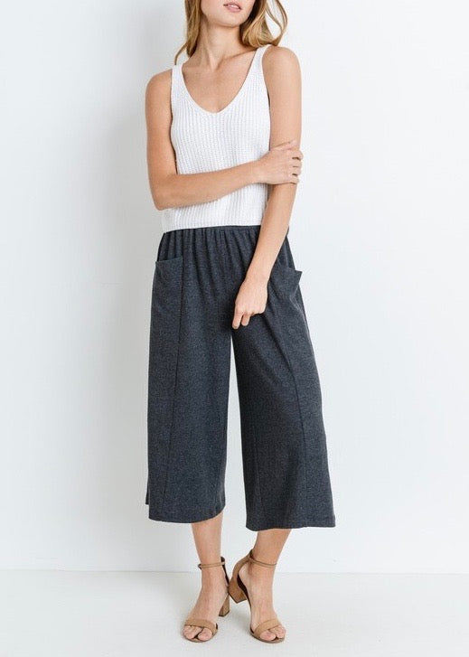 VIOLA FRENCH TERRY COULOTTE PANTS