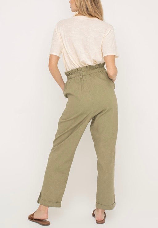 MICHE PAPERBAG CUFFED PANTS