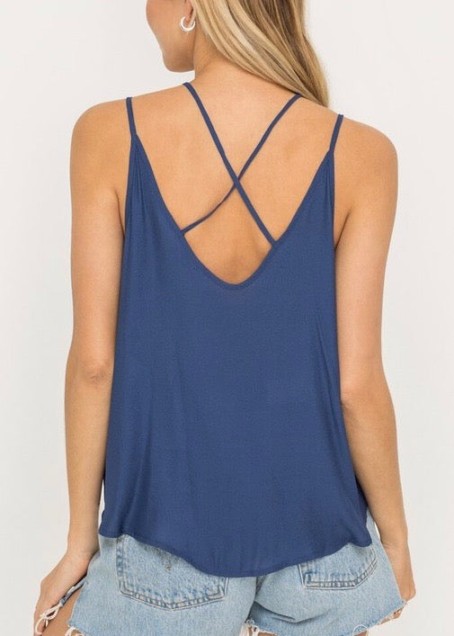 FAUX TUCKED TANK TOP