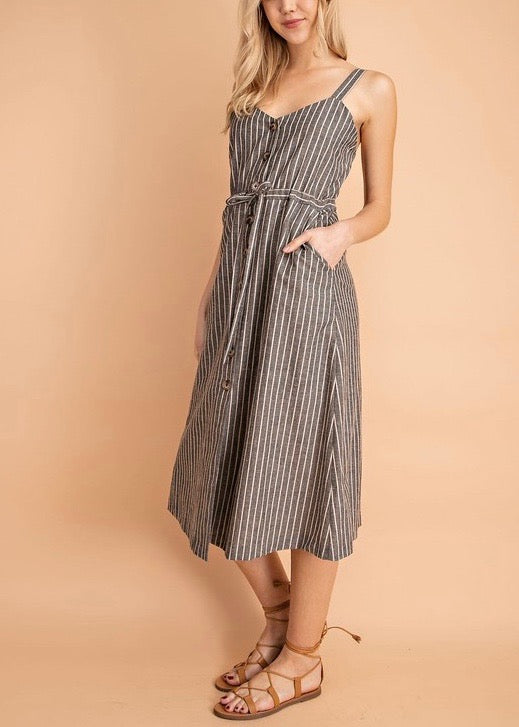 184b40d3a77 JODI STRIPED DRAWSTRING DRESS – K
