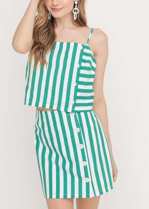 CANDY STRIPED TANK TOP