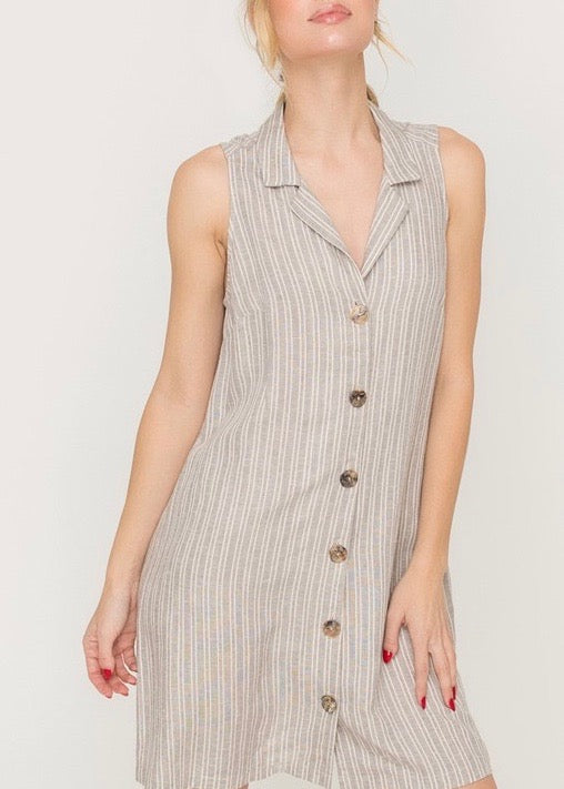 DEZI BUTTONED SHIRT DRESS