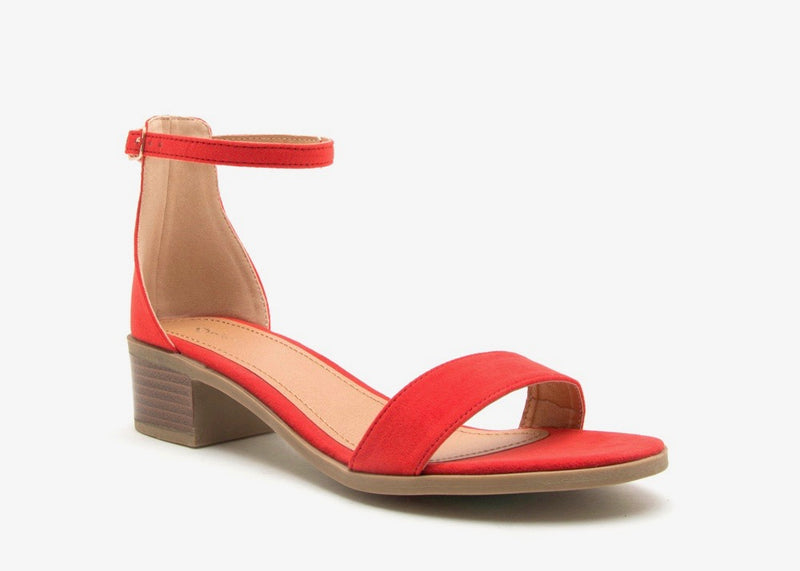 BLOOD ORANGE STRAPY SANDAL