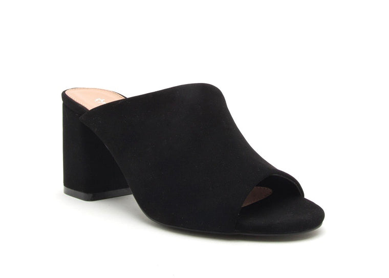 EVERYDAY SUEDE PEEP TOE MULES
