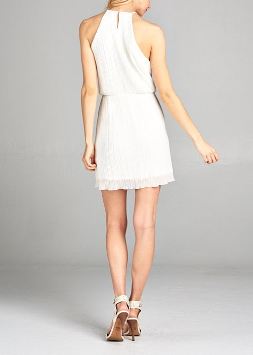 SAM PLEATED MINI DRESS