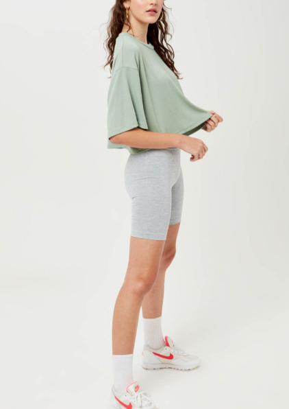 EMERY CROPPED RIBBED TOP