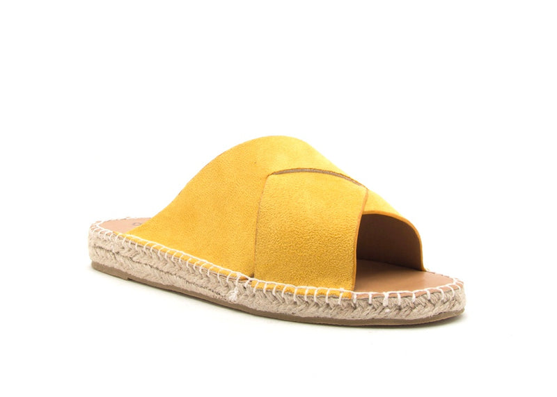 YELLOW ESPADRILLE SANDALS