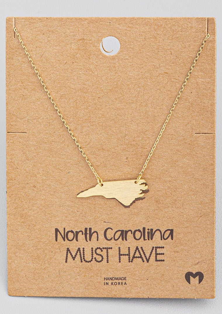 NC STATE PENDANT NECKLACE