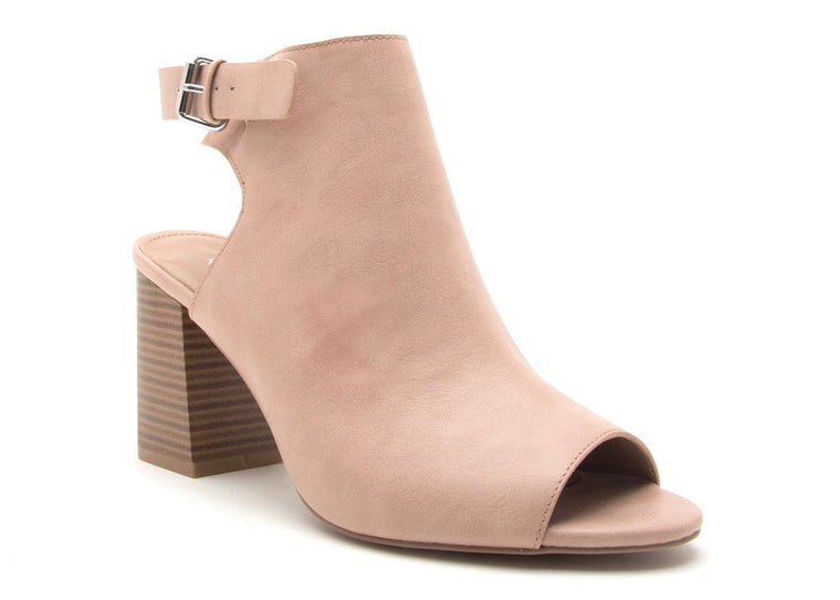 LEAH PEEP TOE ANKLE STRAP MULES