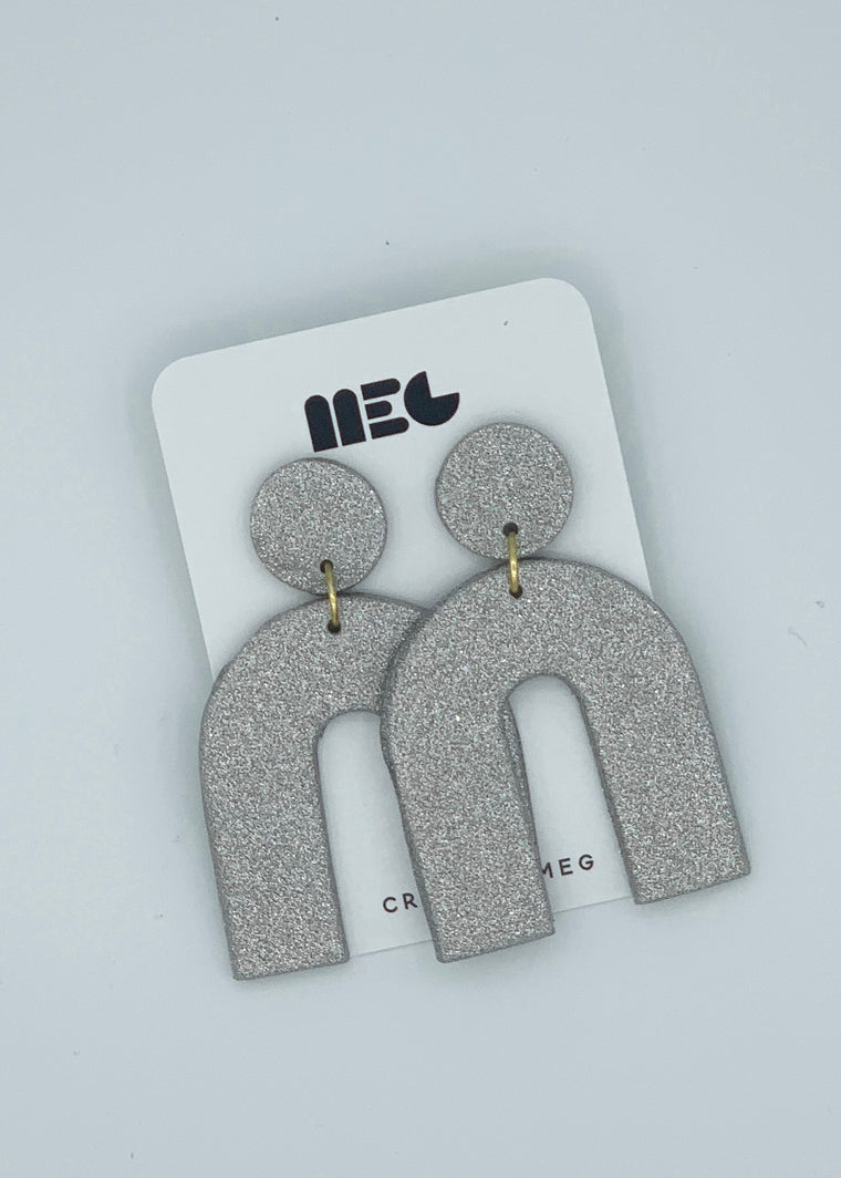 SILVER ERIN ARCH EARRINGS