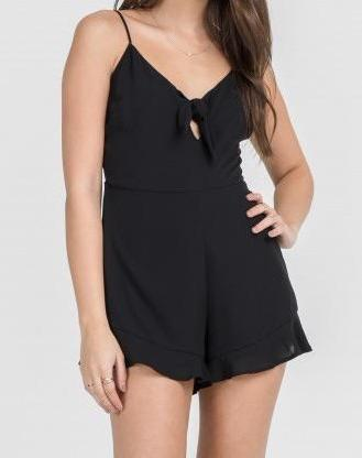CHELSEA BOW FRONT ROMPER