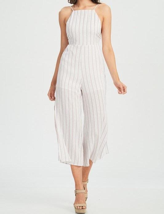 LOGAN PINSTRIPPED BRUNCHING JUMPER