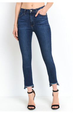 SOFIA CROP FRAY STEP HEM JEANS