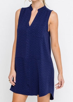 MEREDITH NAVY TUNIC DRESS