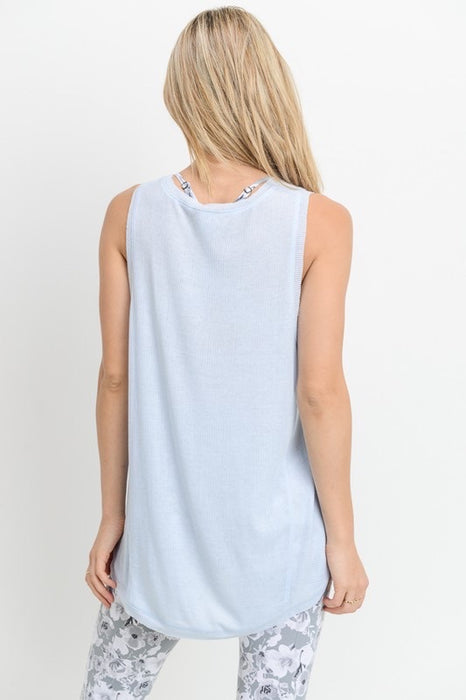 CIARA SLEEVELESS ROUND HEM CAUSUAL WORKOUT TANK TOP