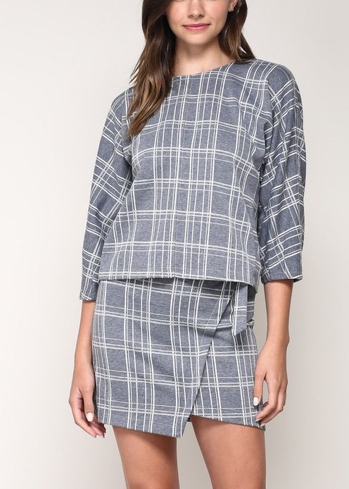 BETTY PLAID TOP