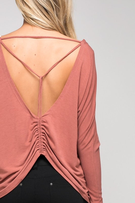 ELISE BACK DRAWSTRING TOP