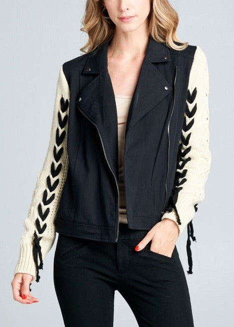 AMY DENIM WOVEN JACKET