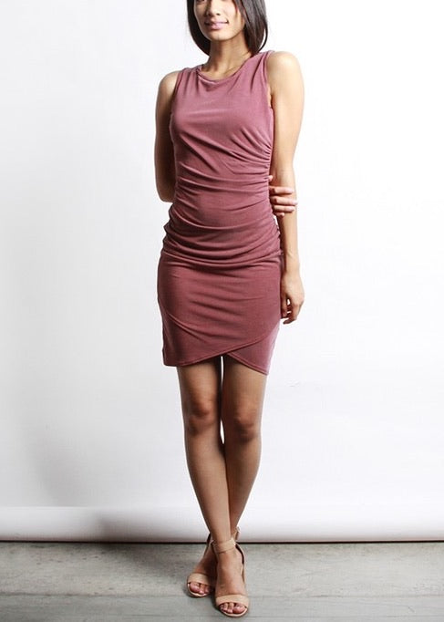 GISELLE DUSTY BURGUNDY DRESS