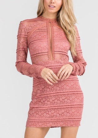 AMY ROSE LACE DRESS