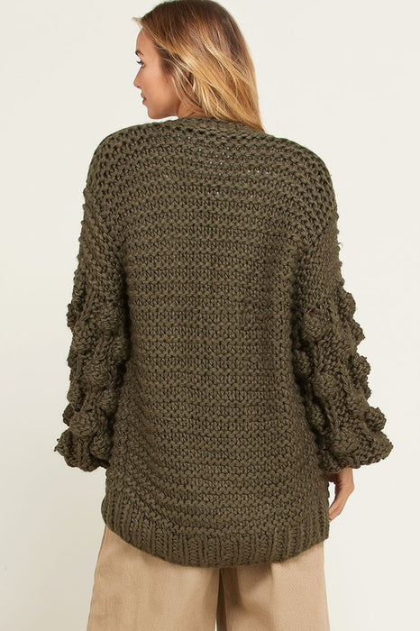 VERONICA HAND MADE OLIVE SWEATER
