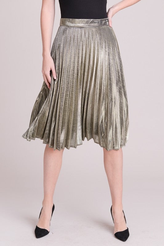 KIM METALLIC SKIRT
